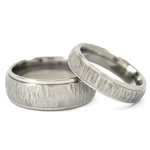amazoncom titanium rings for him and her matching wedding rings titanium bands the jewelry source jewelry - Wedding Ring For Him