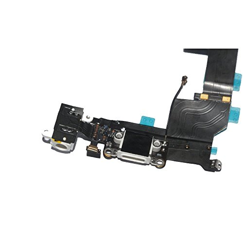 New Headphone Audio Jack Bottom Connector Charging Data Dock USB Port Wifi Signal Antenna Microphone Module Flex Cable Replacement Part For iPhone 5S ()