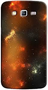 Cover It Up - Orange Pale Blue Star Cloud Samsung Galaxy J5 Hard Case