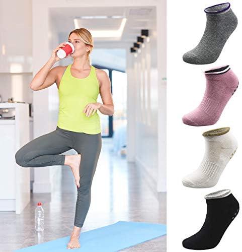 3 Paia Fitness Nero//Blu EU 35-40//UK 4-7 Danza Yoga HeHe Calzini Antiscivolo per Pilates Arti Marziali Nero//Grigio//Rosa