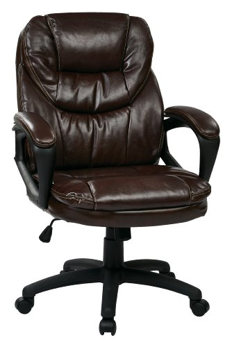 Office Star Faux-Leather Manager's Office Chair with Padded