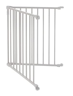 """""""3-in-1 Metal Superyard Two-Panel Extension"""" by North States: Adds 2 Panels to""""3-in-1 Metal Superyard"""" for an Extra-Wide gate or Portable Play Yard (Adds up to 48"""" Width, Gray)"""