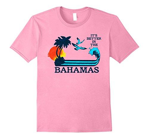 [Men's It's Better in the Bahamas Vintage 80s 70s T-Shirt XL Pink] (80s Style Men)