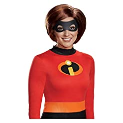 The Incredibles 2 Woman Wig Helen Parr Halloween Costume by Disguise Brown