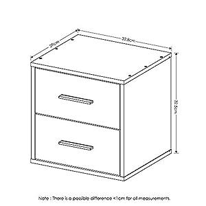 Furinno Indo Petite 2-Drawer Storage Cube, Espresso