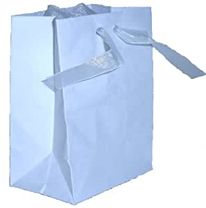 Celebration White Favor Bags, 3 x 4-Inches, Set of 10 Bags (1622)