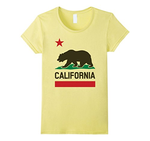 ge California Republic Tshirt Cali Life Love LA Small Lemon (California Yellow T-shirt)