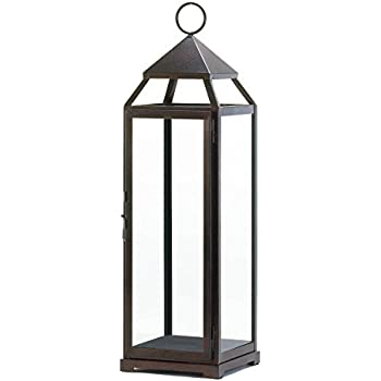 Zingz and Thingz Extra Tall Contemporary Lantern in Bronze