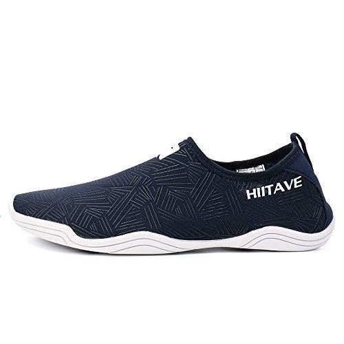 Rapide Pieds Aqua Nautiques La Marine 2 Nus Hommes Plage Chaussures Chaussettes Soulager Les Pour Sur Bleu De Schage Hiitave Sport ISWBq0