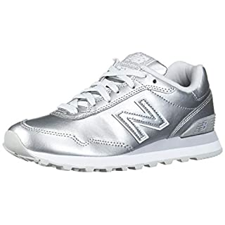 New Balance Women's 515 V1 Sneaker, Silver Metallic/Silver Metallic, 11 W US