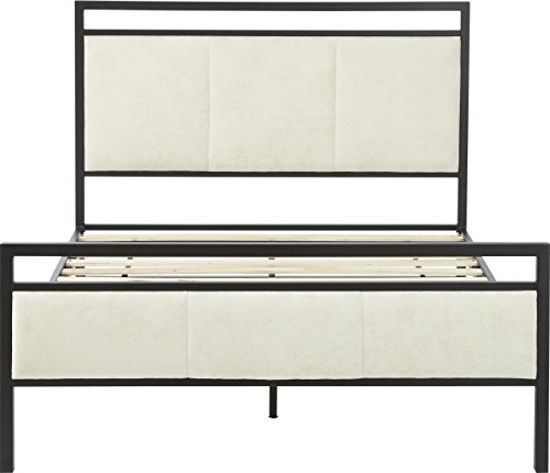 Flex Form Rosetta Metal Platform Bed Frame / Mattress Foundation with Headboard and Footboard, Full by Flex Form (Image #4)