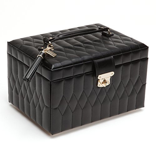 WOLF 329771 Caroline Medium Jewelry Case, Black