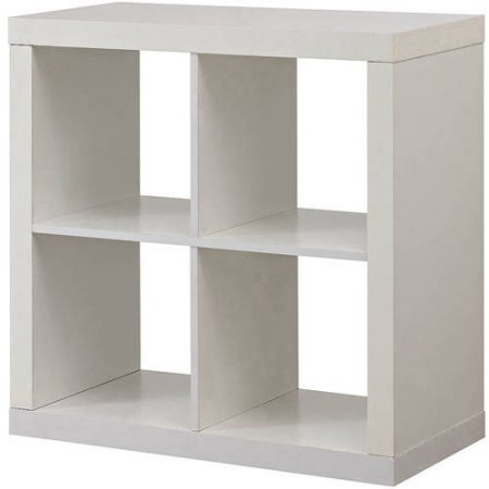 Better Homes and Gardens Square 4-Cube Organizer - MDF and Particle Board (White) ()
