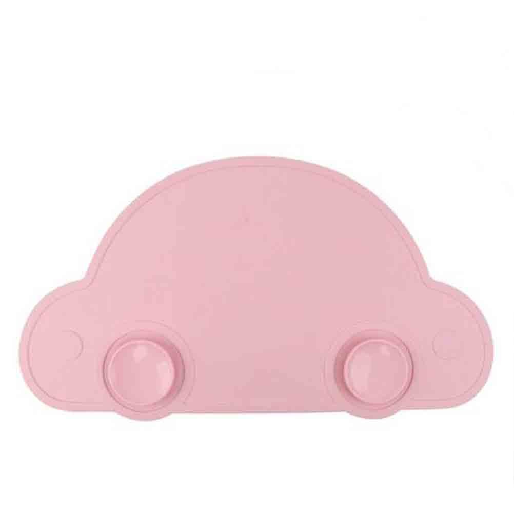 最安値に挑戦! allscarf007シリコンCartton車キュートなデザインテーブルマット、子供 B07DVK39CG、キッズ、幼児のため、赤ちゃんHighchair Feeding、ピンク B07DVK39CG, スイートハート:f2be2aa2 --- a0267596.xsph.ru