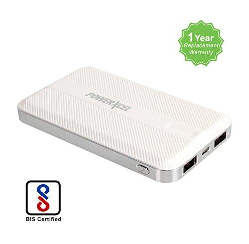 PowerXcel RBB042PX 10000 mAh Ultra Slim Power Bank – White