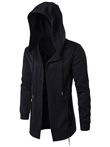 Clocolor Man Tops Casual Sweater Jackets Slim Fit Cotton Coat Outerwear Hip-Hop Style Blazer
