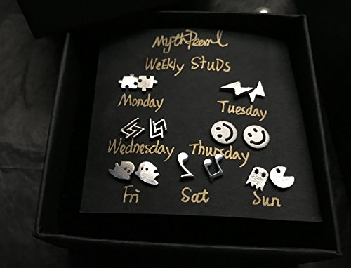 Cool Earrings for Girls with Personality, Ghost,Puzzle,Emoji,Music,Gaming,Harry Potter,Hunted Spooky Halloween Outfits Teen Gift,Unisex Stud]()