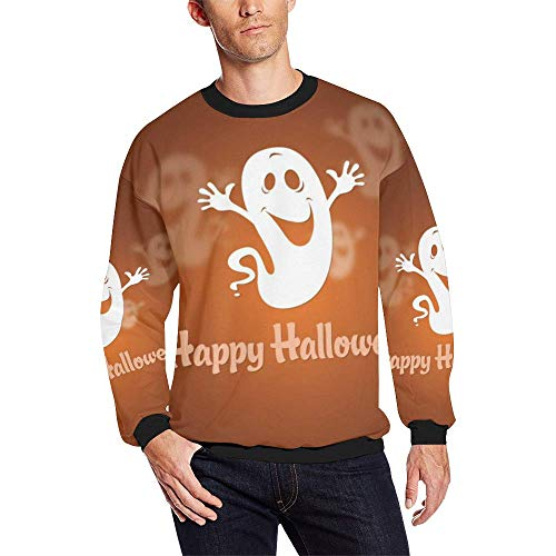 Yeahope Crew Collar Long Sleeve Sweatshirt Specter 3D Printed Men Pullover Tops Funny Halloween Costume Graphic Teen Boys
