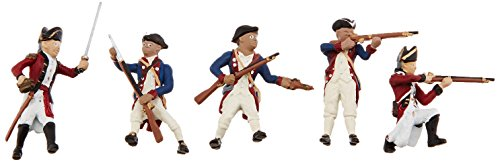 Soldier Miniature (Woodland Scenics SP4454 1.5-Inch Scene Setters Figurine, Revolutionary War Soldiers, 5/Pack)