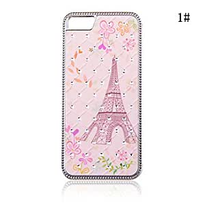 Fashionable Zircon Starry Eiffel Tower Pattern Hard Case for iPhone 5/5S(Assorted Colors) , 3