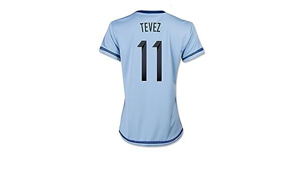 Adidas TEVEZ #11 Argentina Camiseta 1ra Futbol 2015 (MUJER) - Nombre Auténtico y Número Del Jugador (Tamaño De Los EE.UU) (XS): Amazon.es: Deportes y aire ...