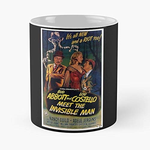 Abbott And Costello Meet The Invisible Man Movie Film Poster The Best Gift For Holidays Coffee Mugs