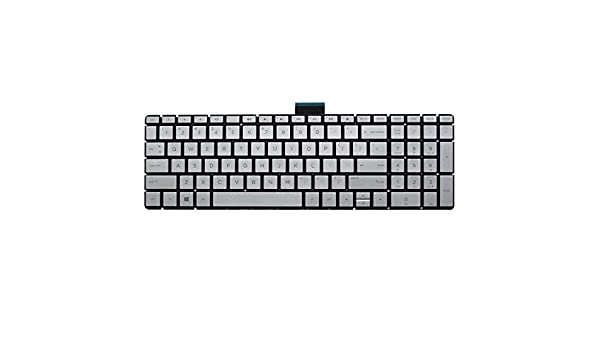 New US Silver Backlit Keyboard Replacement for HP Pavilion 17-AR 17-AR007CA 17-AR050WM 17Z-AR000 Light Backlight Without Frame