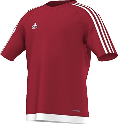 adidas Youth Soccer Estro Jersey, Power Red/White, X-Small
