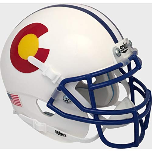 Colorado State Rams Alternate White Schutt Authentic Mini Helmet Colorado State Rams Helmet