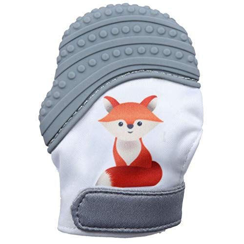 Zohto Baby Toy 2019 Summer Baby Silicone Fox Mitts Teething Mitten Molars Glove Wrapper