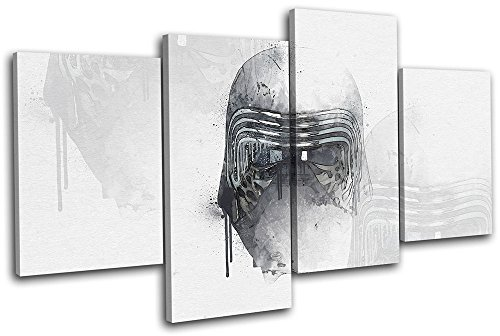 Bold Bloc Design - Star Wars Kylo Ren Abstract Movie Greats 240x135cm MULTI Canvas Art Print Box Framed Picture Wall Hanging - Hand Made In The UK - Framed And Ready To Hang