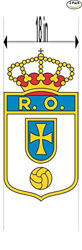 fan products of Real Oviedo CF Spain Soccer Football Club FC 2 Stickers Car Bumper Window Sticker Decal Huge 18 inches