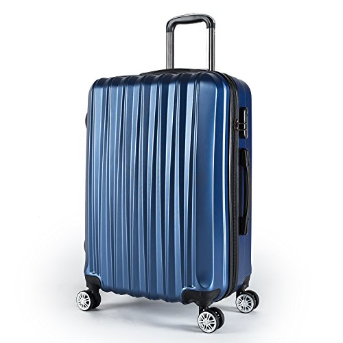 Compaclite Voyager ABS + PC Spinner 24 inch/Strong Lightweight Luggage, Blue Review