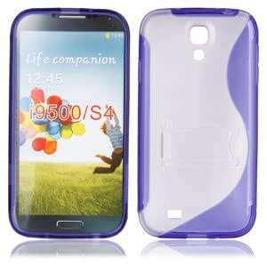 S-Line Type PC + TPU Case with Stand for Samsung I9500 Dark Blue