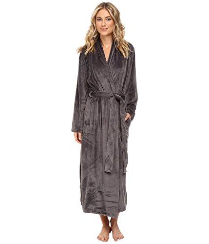 N Natori Women's Splendor Velour Robe, Charcoal - Robe Natori Fleece