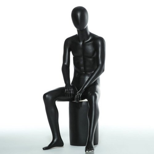 BEIYANG Male Mannequin Torso Form Display Stand Designer Pattern Showcase Mannequin (Black) by BEIYANG