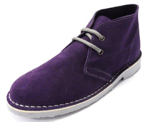 Ladies Classic Round Toe Desert Boots Purple