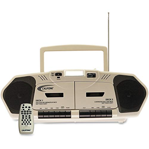 NETCNA Califone 2395AV02 Multimedia Player,AM/FM,CD,Group Listening Boombox, Beige ()