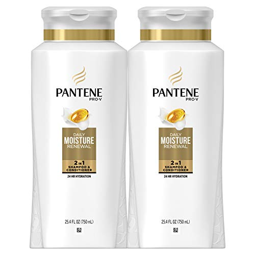 Pantene, Shampoo and Conditioner 2 in 1, Pro-V Daily Moisture Renewal for Dry Hair, 25.4 fl oz, Twin Pack (Best 2 In 1 Shampoo Conditioner)