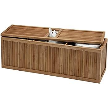 Creative Bath 3 In 1 Tank Topper, Natural/Bamboo