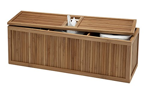 (Creative Bath 3-in-1 Tank Topper, Natural/Bamboo)