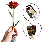 Jecor-24k-Gold-Rose-Dipped-Long-Stem-Forever-Rose-Gifts-for-Her-Best-Gift-for-Anniversary-Mothers-Day-Wedding-Proposal-Valentines-Red-Gold-Rose-with-Moon-Stand-Gift-Box-and-Gift-Bag
