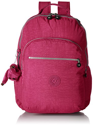 Seoul L Solid Laptop Backpack, Very Berry