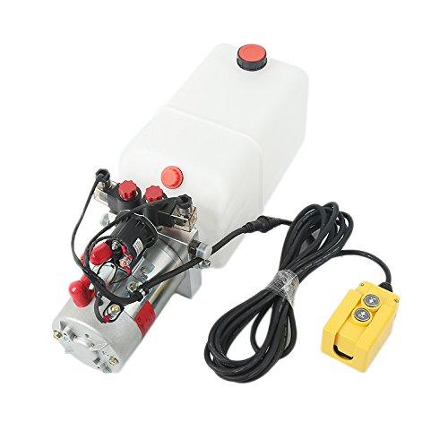 Double Acting Hydraulic Pump 6 Quart 12V DC Dump Trailer Power Unit 2.0 GPM