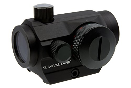 Survival Land Advanced Targeting Micro-Dot Sight/Scope with Selectable Illuminated Red or Green Target Reticle - Great for Hunting, Paintball, or Target Practice.