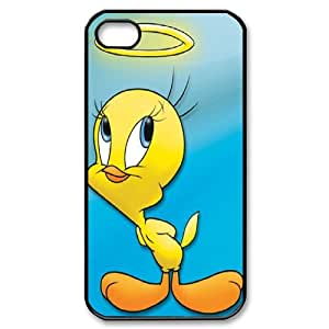Tweety Bird Black Plastic Case For Iphone 4 4S case cover KLR-T772525