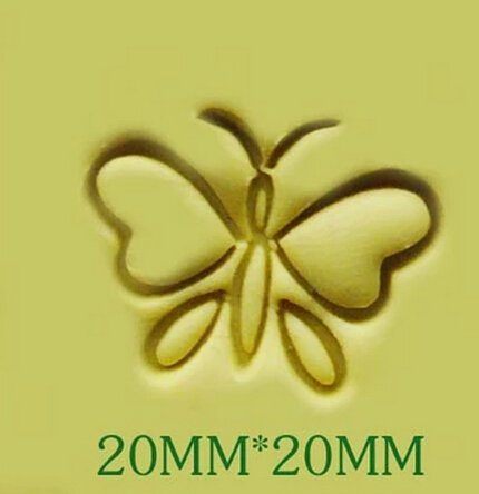 (Butterfly Pattern Mini Diy Soap Stamp Chaprter Seal 2*2cm)
