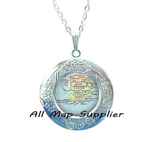 Charming Locket Necklace,South Africa map Locket Necklace, South Africa map Locket Pendant, map jewellery, South Africa Locket Pendant, South Africa Locket - Online South Africa
