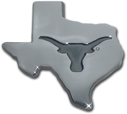 University of Texas Longhorns UTX Debossed State Logo Longhorn Chrome Plated Premium Metal Car Truck Motorcycle NCAA College Sports Emblem