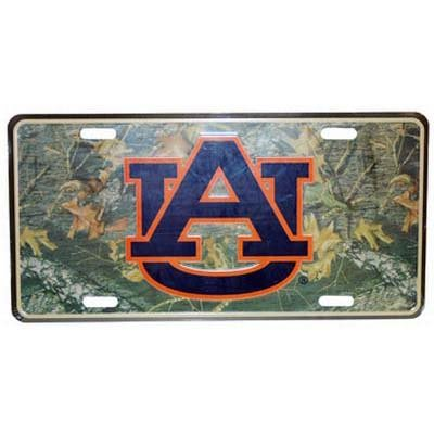 NCAA Auburn Tigers Car Tag (Camo)